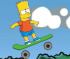 Bart Simpson sullo Skateboard